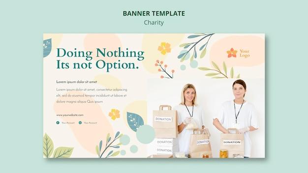 Design de modelo de banner de caridade