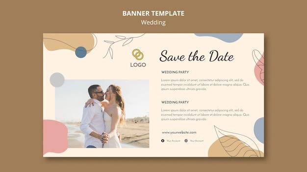 Design de modelo de banner de casamento