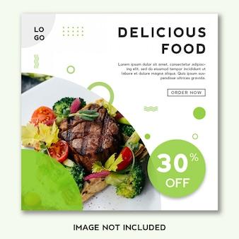 Design de modelo de banner de comida para mídias sociais