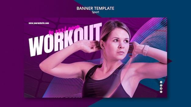 Design de modelo de banner de conceito de esporte