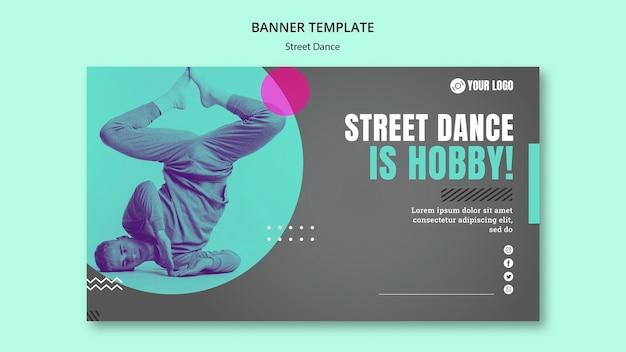 Design de modelo de banner de dança de rua