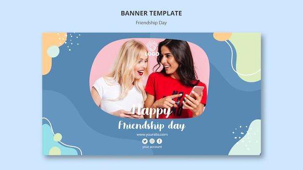 Design de modelo de banner de dia de amizade
