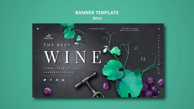 Design de modelo de banner de empresa de vinho