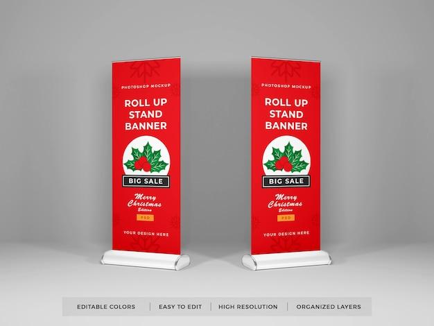 Design de modelo de banner de enrolar isolado