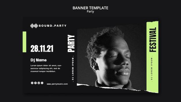 Design de modelo de banner de festa