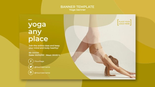 Design de modelo de banner de ioga