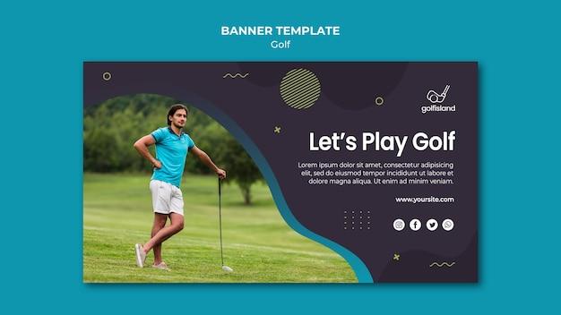 Design de modelo de banner de jogo de golfe