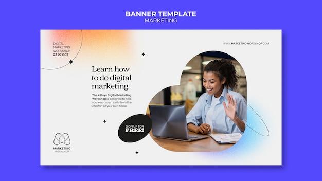 Design de modelo de banner de marketing