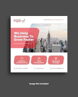 Design de modelo de banner de mídia social para negócios corporativos