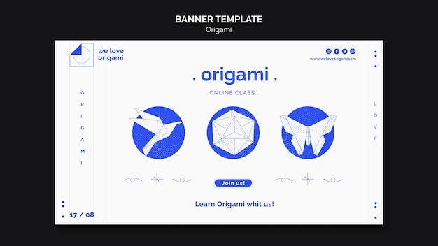 Design de modelo de banner de origami