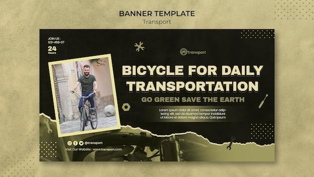 Design de modelo de banner de transporte