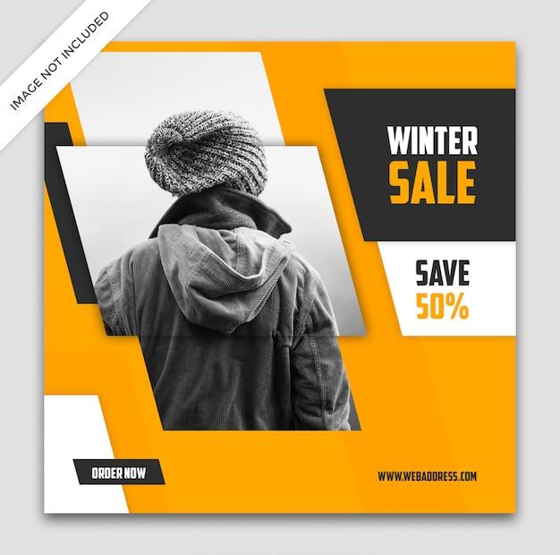 Design de modelo de banner de venda dinâmica