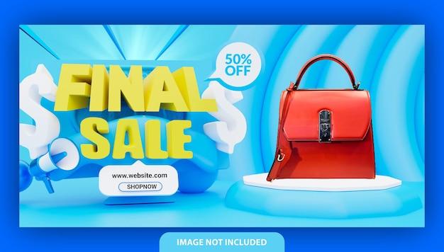 Design de modelo de banner de venda final