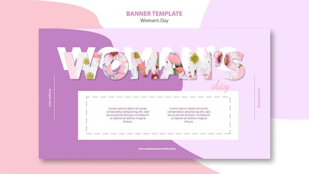 Design de modelo de banner do dia da mulher