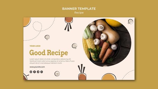 Design de modelo de banner horizontal de receita