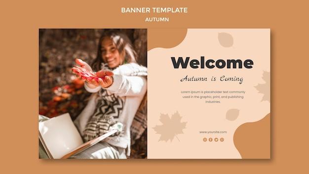 Design de modelo de banner outono