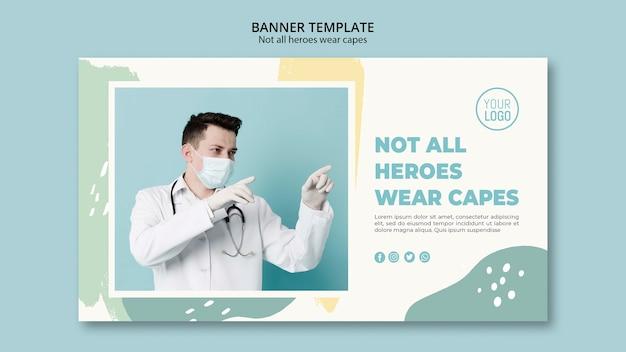 Design de modelo de banner profissional médico
