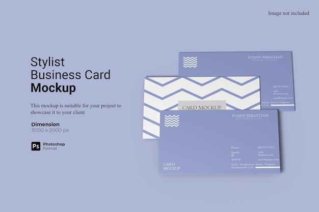 Design de modelo de cartão de visita estilista