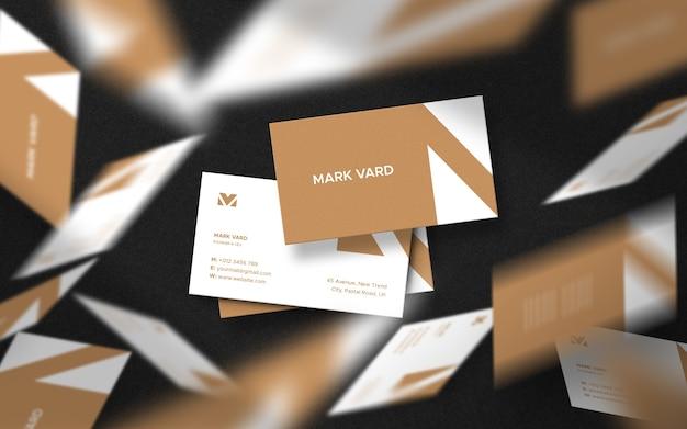 Design de modelo de cartão de visita flutuante