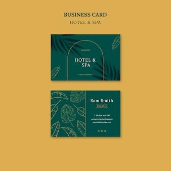 Design de modelo de cartão de visita para aluguel por temporada de luxo