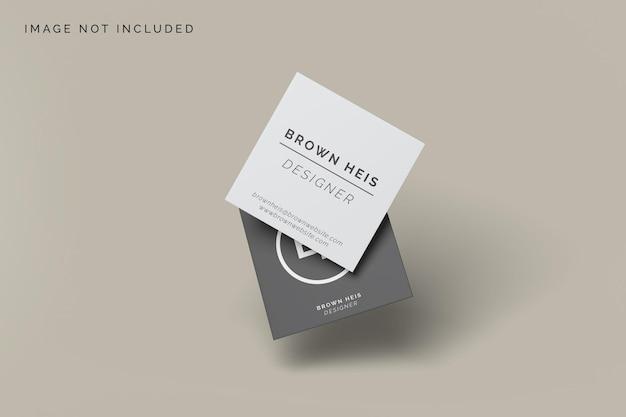 Design de modelo de cartão de visita quadrado flutuante