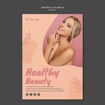 Design de modelo de cartaz de beleza