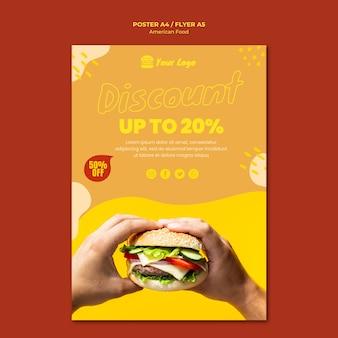 Design de modelo de cartaz de comida americana