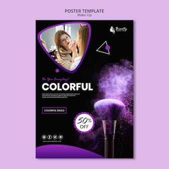 Design de modelo de cartaz de conceito de maquiagem