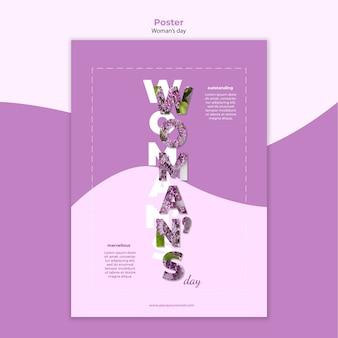 Design de modelo de cartaz de dia das mulheres
