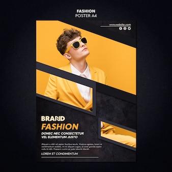 Design de modelo de cartaz de moda