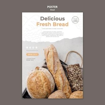 Design de modelo de cartaz de pão