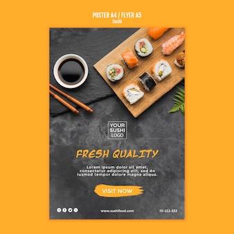 Design de modelo de cartaz de sushi
