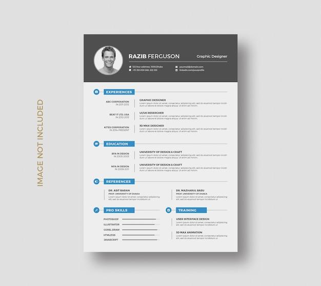 Design de modelo de currículo criativo