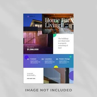 Design de modelo de design de folheto de imóveis