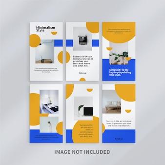 Design de modelo de design de histórias do instagram