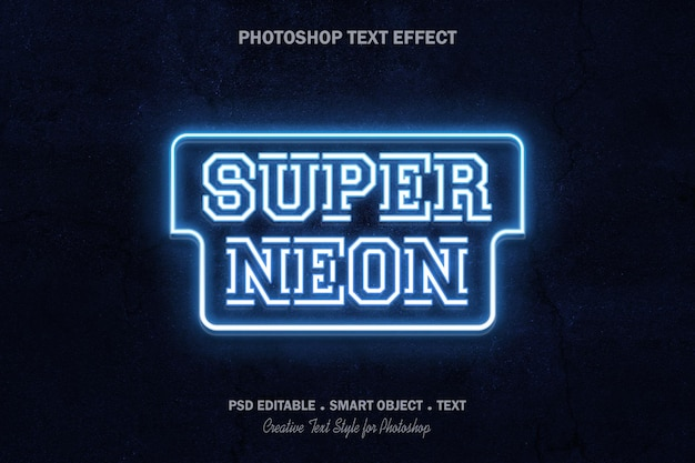 Design de modelo de efeito de texto neon