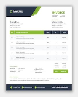 Design de modelo de fatura profissional para negócios