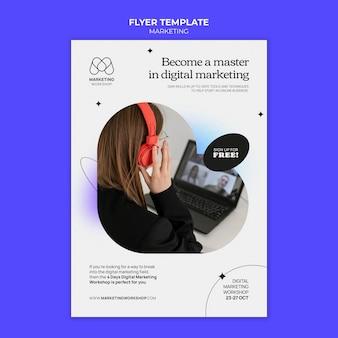 Design de modelo de folheto de marketing