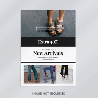Design de modelo de folheto de moda profissional