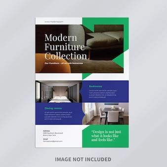 Design de modelo de folheto de móveis