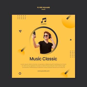 Design de modelo de folheto de música