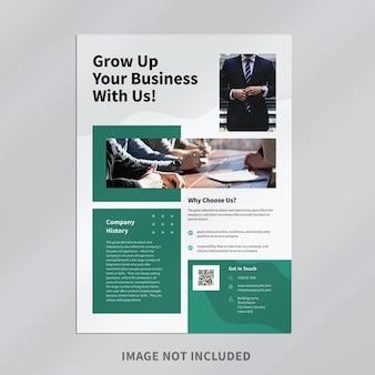 Design de modelo de folheto empresarial moderno