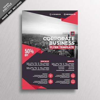 Design de modelo de folheto escuro vermelho negócios corporativos