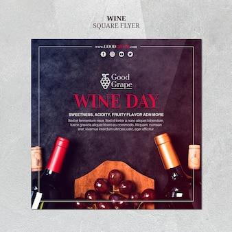 Design de modelo de folheto vinho