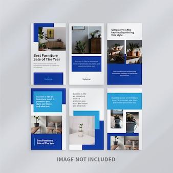 Design de modelo de histórias de design minimalista