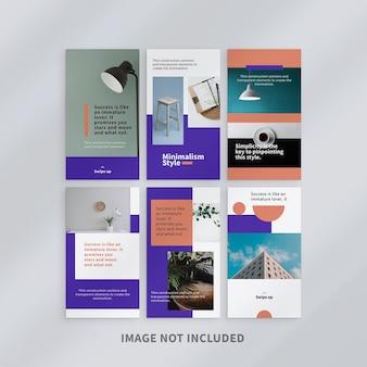 Design de modelo de histórias minimalistas do instagram