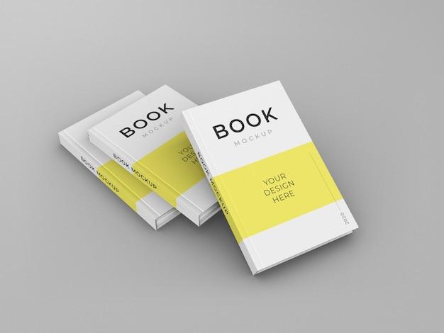 Design de modelo de maquete de livro