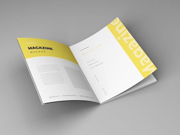 Design de modelo de maquete de revista aberta