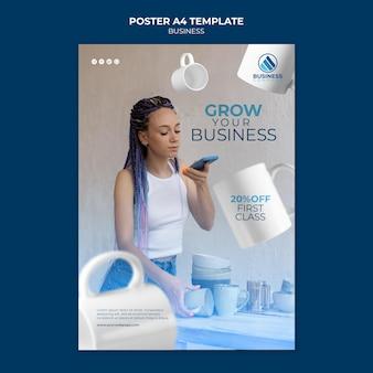 Design de modelo de negócios de pôster