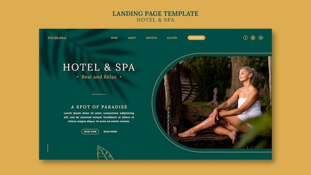 Design de modelo de página de destino para aluguel por temporada de luxo